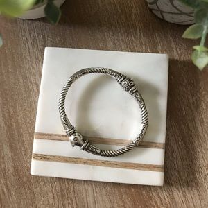 BRIGHTON Two-Tone Hinged Bangle Bracelet